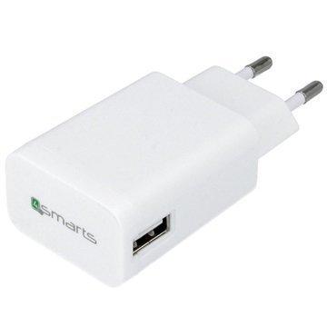 4smarts PowerPlug Yleiskäyttöinen USB-Matkalaturi Valkoinen