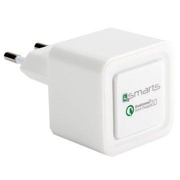 4smarts Rapid Nopea USB Matkalaturi Valkoinen