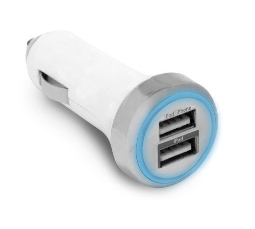 ATC Powerring Autolaturi 3 4 Amppeeria - 2 USB liitäntää
