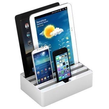 All-Dock 4-Porttinen Yleiskäyttöinen Lataustelakka M Valkoinen