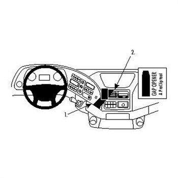 Brodit 213465 Kiinnitysalusta Mercedes Benz Actros 03-13