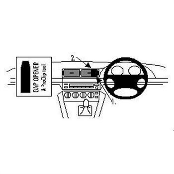 Brodit 652280 ProClip BMW 520-540/M5 E39 96-03