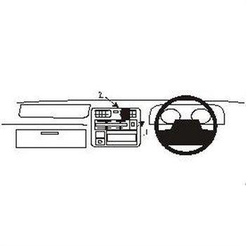 Brodit 652297 ProClip Toyota HiAce 96-12