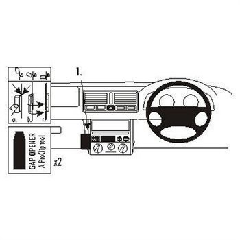 Brodit 652808 ProClip Volkswagen Bora 99-05