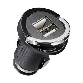 Cabstone Dual USB Autolaturi Musta