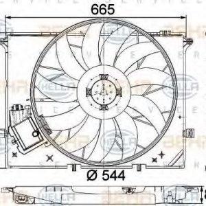 Hella Tuuletin Moottorin Jäähdytys