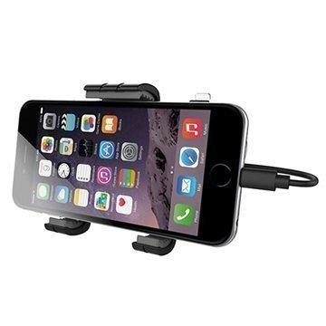 KiDiGI Aktiivinen Autopidike iPhone 6 / 6S iPhone 6S Plus Musta