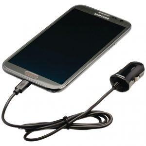 Micro USB -autolaturi Micro USB uros - 12 V autoliitäntä 1 00 m musta 2.1A