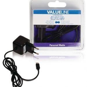 Micro USB -vaihtovirtalaturi Micro USB uros - vaihtovirtaliitäntä 1 00 m musta 2.1A