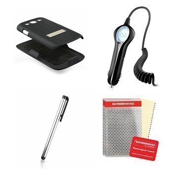 Samsung Galaxy S 3 I9300 Naztech Wireless Essentials 4 in 1 Bundle Kit