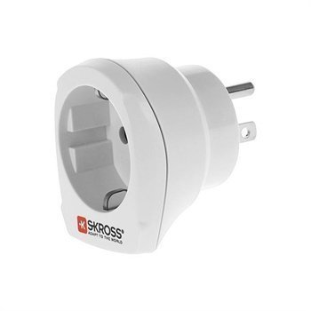Skross USA / Europe Adapter White