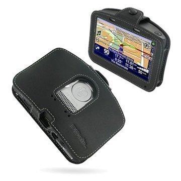 Tom Tom Go 930 930T 730 730T 530 530T PDair Leather Case 3BTT73SX1 Musta