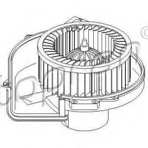 Topran Sähkömoottori Sisätilanpuhallin
