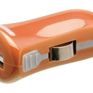 USB-autolaturi USB A naaras - 12 V autoliitäntä oranssi