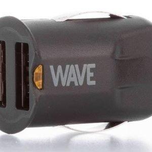 Wave miniautolaturi kahdella USB-paikalla