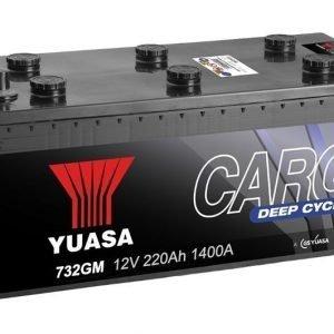 Yuasa 732GM 12V 220Ah 1400CCA Cargo Deep Cycle Glass Mat Käynnistysakku