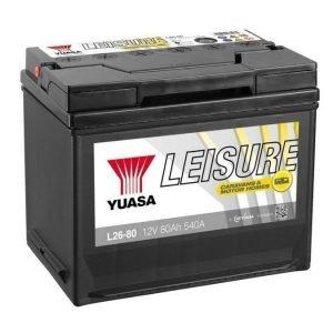Yuasa L26-80 12V 80Ah 540CCA Leisure akku