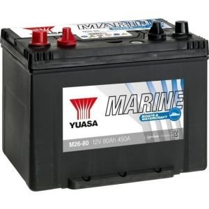 Yuasa M26-80 12V 80Ah 450CCA Marine akku