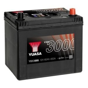 Yuasa YBX3005 12V 60Ah 450CCA SMF Käynnistysakku