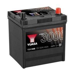 Yuasa YBX3008 12V 50Ah 450CCA SMF Käynnistysakku