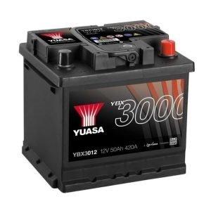 Yuasa YBX3012 12V 50Ah 420CCA SMF Käynnistysakku