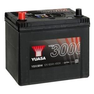 Yuasa YBX3014 12V 60Ah 450CCA SMF Käynnistysakku