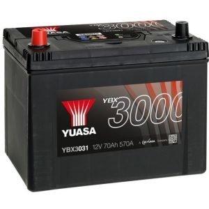 Yuasa YBX3031 12V 70Ah 570CCA SMF Käynnistysakku