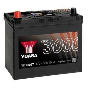 Yuasa YBX3057 12V 45Ah 400CCA SMF Käynnistysakku