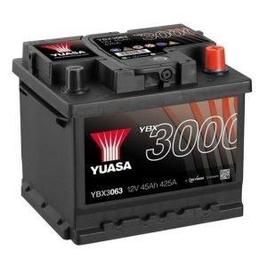 Yuasa YBX3063 12V 45Ah 425CCA SMF Käynnistysakku