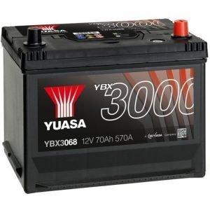 Yuasa YBX3068 12V 70Ah 570CCA SMF Käynnistysakku