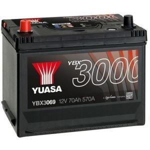 Yuasa YBX3069 12V 70Ah 570CCA SMF Käynnistysakku