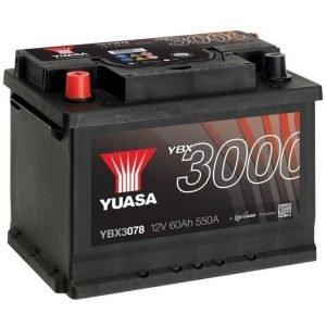 Yuasa YBX3078 12V 60Ah 550CCA SMF Käynnistysakku