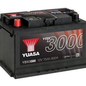 Yuasa YBX3086 12V 75Ah 650CCA SMF Käynnistysakku