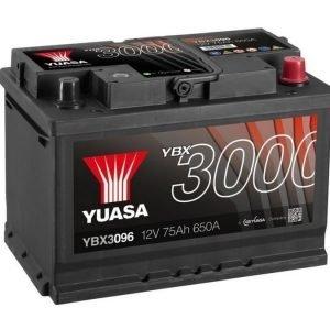 Yuasa YBX3096 12V 75Ah 650CCA SMF Käynnistysakku