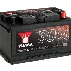 Yuasa YBX3100 12V 71Ah 650CCA SMF Käynnistysakku