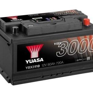 Yuasa YBX3110 12V 80Ah 720CCA SMF Käynnistysakku