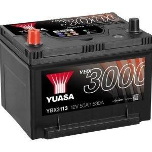 Yuasa YBX3113 12V 50Ah 530CCA SMF Käynnistysakku