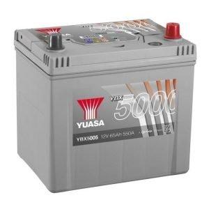 Yuasa YBX5005 12V 65Ah 550CCA Silver High Perfomance SMF Käynnistysakku