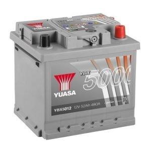 Yuasa YBX5012 12V 52Ah 480CCA Silver High Perfomance SMF Käynnistysakku