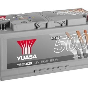 Yuasa YBX5020 12V 110Ah 900CCA Silver High Perfomance SMF Käynnistysakku