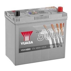 Yuasa YBX5053 12V 48Ah 430CCA Silver High Perfomance SMF Käynnistysakku