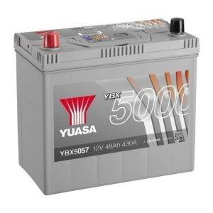 Yuasa YBX5057 12V 48Ah 430CCA Silver High Perfomance SMF Käynnistysakku