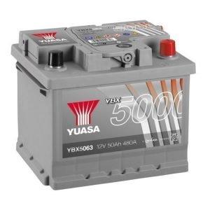 Yuasa YBX5063 12V 50Ah 480CCA Silver High Perfomance SMF Käynnistysakku