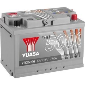 Yuasa YBX5096 12V 80Ah 760CCA Silver High Perfomance SMF Käynnistysakku