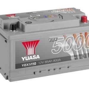 Yuasa YBX5110 12V 85Ah 800CCA Silver High Perfomance SMF Käynnistysakku