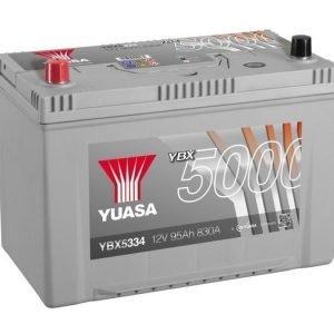 Yuasa YBX5334 12V 95Ah 830CCA Silver High Perfomance SMF Käynnistysakku