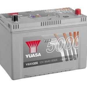 Yuasa YBX5335 12V 95Ah 830CCA Silver High Perfomance SMF Käynnistysakku