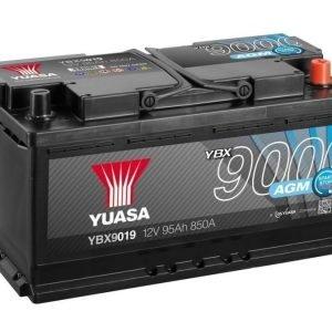 Yuasa YBX9019 12V 95Ah 850CCA AGM Start Stop Plus Käynnistysakku