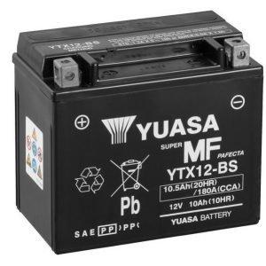 Yuasa YTX12-BS 10Ah Maintenance Free Käynnistysakku