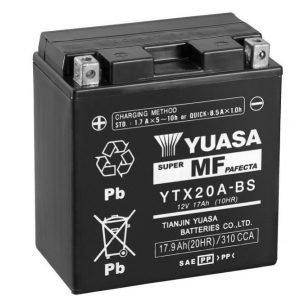 Yuasa YTX20A-BS 17Ah Maintenance Free Käynnistysakku